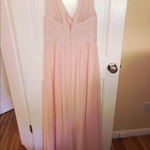 Long Pink Blush formal dress